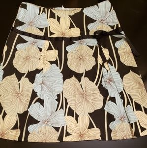 IXIA black floral skirt with bow in size XS
